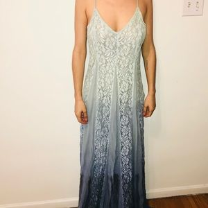 long graded blue dress
